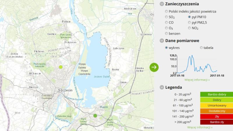 Jakość powietrza w Szczecinie