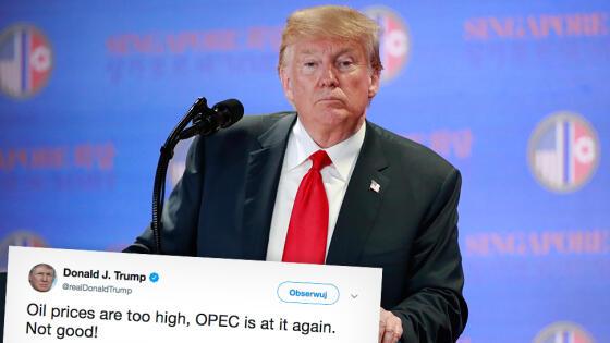 Prezydent USA oskarża OPEC o zawyżanie cen ropy naftowej