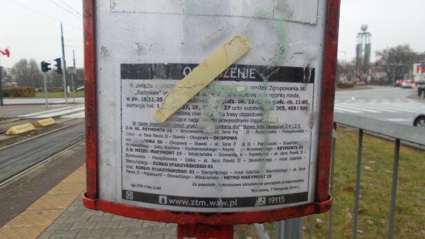 Tak wygląda informacja na przystanku  Lech Marcinczak / tvnwarszawa.pl