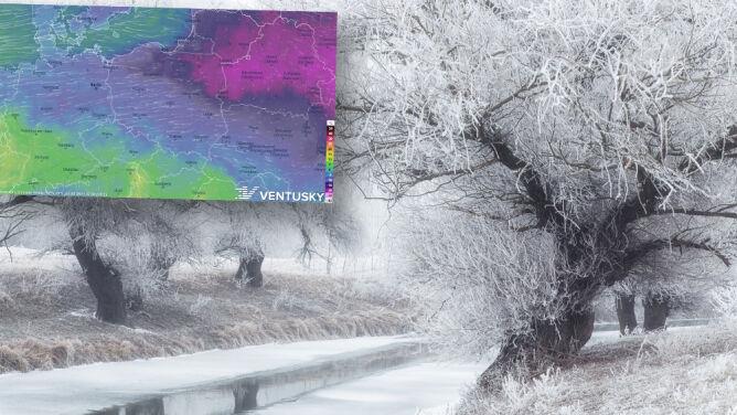 Pogoda na 5 dni: nie tylko tęgi mróz, ale też śnieg i silny wiatr