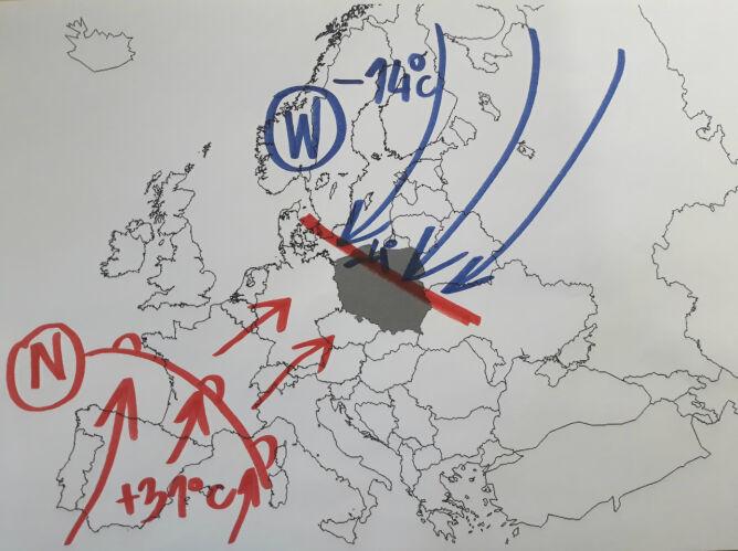 Sytuacja atmosferyczna nad Polską