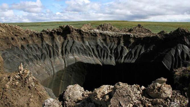 Globalne ocieplenie niszczy syberyjską zmarzlinę. To przez nie powstają kratery