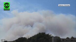 Nagrania Reporterów 24 pożarów na wyspie Zakintos